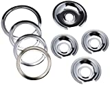 1056RGE8 Style D (3) 6'' pan/ring, (1) 8'' pan/ring Replacement for Range Kleen GE Chrome