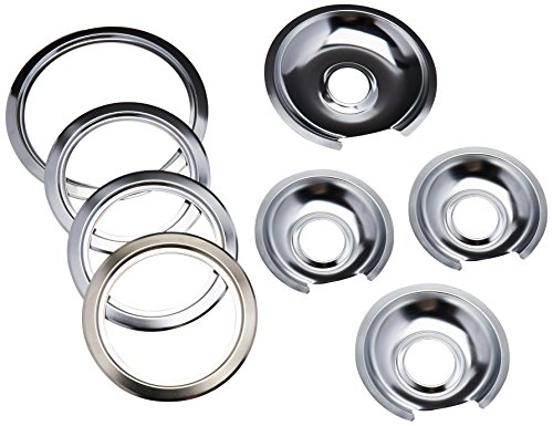 Electric Range Trim Ring - Range Kleen - Chrome Style D contains (3) 6
