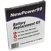 Samsung GALAXY Note 10.1 GT-N8010 Battery Replacement Kit with Installation Video, Tools, and Extended Life Battery.