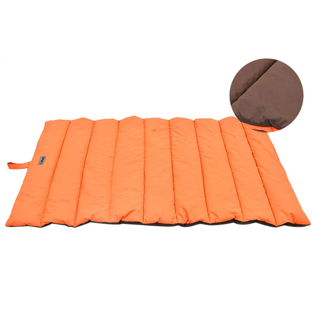 orange xinYxzR Waterproof Pet Dog Bite Pad Large Kennel Cushion Washable Outdoor Square Mat orange