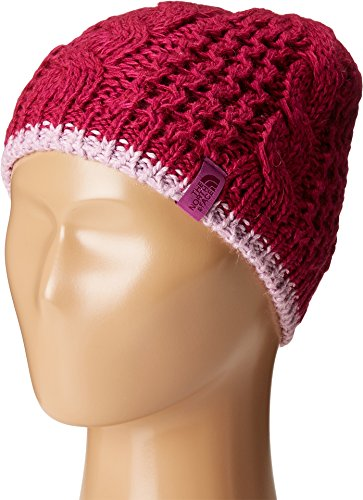 The North Face Kids Girl's Cable Minna Beanie (Big Kids) Roxbury Pink (Prior Season) MD (Roxbury Accessories)