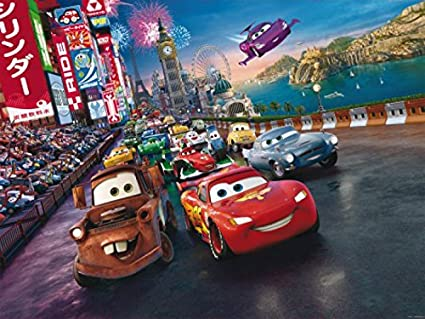 Amazoncom Cars Poster Photo Wallpaper Lightning Mcqueen