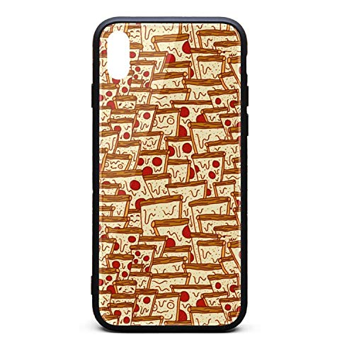Pizza Slice Bread Phone Case for iPhone Xs Max TPU Gel Protective Anti-Scratch Fashionable Glossy Anti Slip Thin Shockproof Soft -