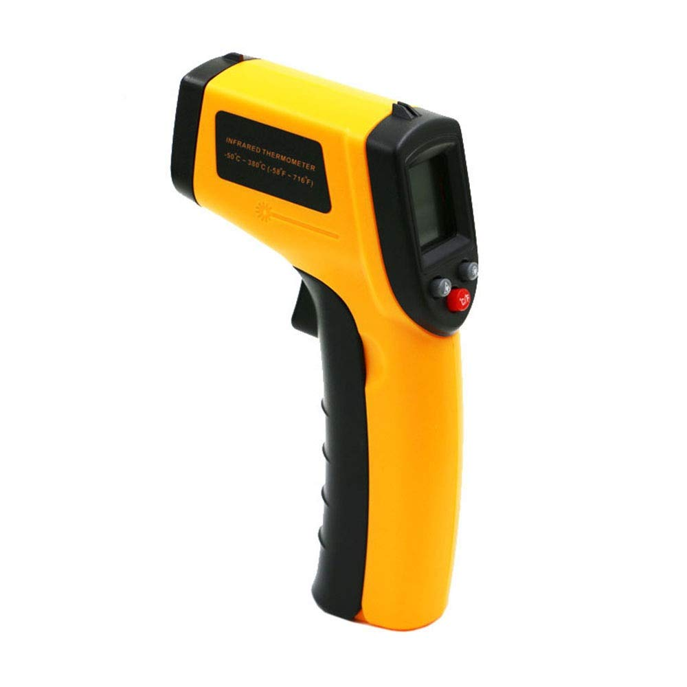 XUNHANG Infrared Thermometer Digital Display Electronic Thermometer Handheld High Precision Industrial Infrared Temperature Gun Accuracy: ±1.5 °C / ± 1.5% Non-contact Digital Thermometer Temperature G by XUNHANG