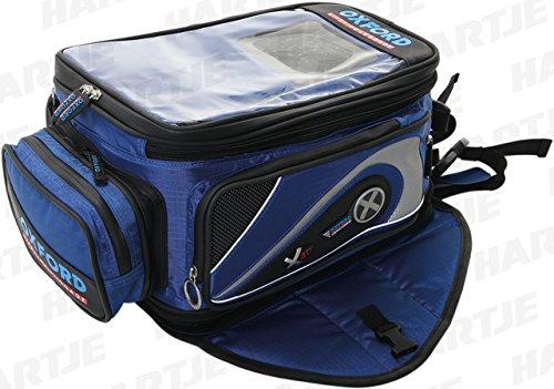 Oxford OL137 X40 Blue Magnetic Motorcycle Tank Bag