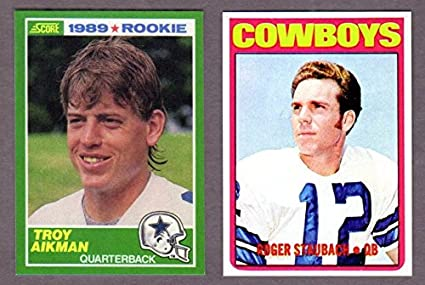 Dallas Cowboys Football Reprint Rookie 2 Card Lot W