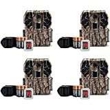 Stealth Cam ZX36NG 10MP No Glo Infrared Game Trail Camera Kit +SD Card (4 Pack)