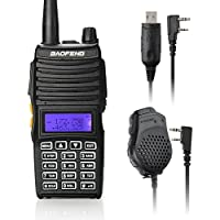 Baofeng UV-5X Mate Handheld Two-way radio VHF136-174MHz UHF400-520MHz Dual Display Standby Transceiver Walkie Talkie with Mic+Tokmate Programming Cable