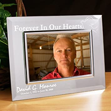 Amazoncom Forever In Our Hearts Memorial Mirror Picture Frame