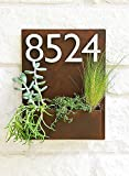 Mid-Century Madness Planter w/ Silver Address Numbers