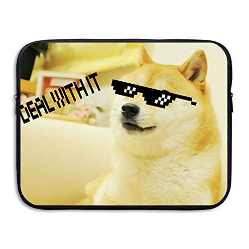 Laptop Sleeve Bag Doge Dog With Sunglasses Cover Computer Liner Package Protective Case Waterproof Computer Portable - Packaging Boxes Sunglasses