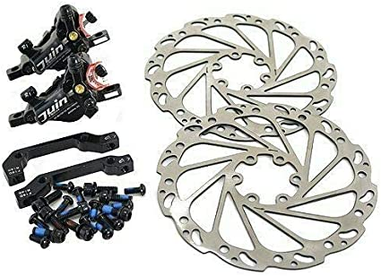 JUIN Tech F1 Hydraulic Flat mount Disc Brake set 160mm rotors Gray Road//CX Bike