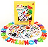 Magnetic Objects And Letters by Curious Columbus. Set of 52 Foam...
