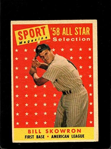 1958 TOPPS #477 BILL SKOWRON ALL-STAR VG YANKEES *A23982