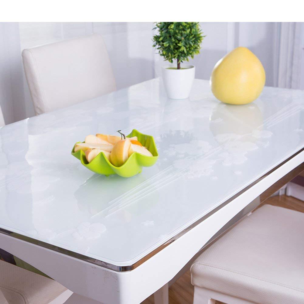 Shuangdeng PVC防水油布軟質ガラスつや消しテーブルクロス (Color : A, サイズ : 60x120cm(24x47inch))   B07S77ND2T
