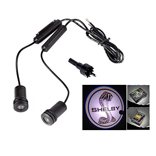 Lupar 5w 4th Generation 2x LED Car Door Laser Projector Ghost Shadow Step Light Logo (Fits:SHELBY) (Shadow Shelby)