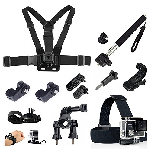 Price comparison product image Susins Accessories SSN Monopod Bike Bicycle Handlebar Head Chest Strap Kit for Thieye E7 I60E I60 T5 T5E V5 Akaso Ek5000 Ek7000 Foscam Ac1080