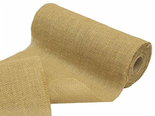 BalsaCircle 12 inch x 10 yards Natural Brown Burlap Fabric (Burlap Fabric Wholesale)