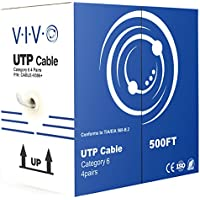 VIVO New 500 ft bulk Cat6 (CCA) Ethernet Cable/Wire UTP Pull Box 500ft Cat-6 (CCA) Grey (CABLE-V006)