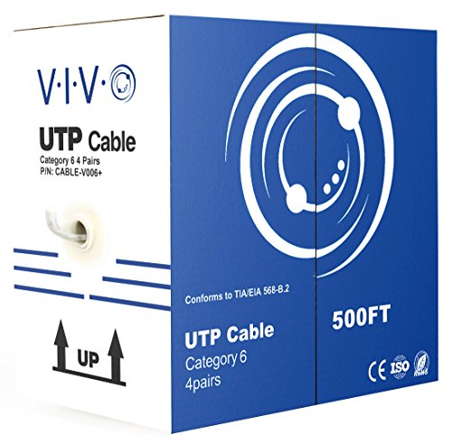 (VIVO Gray 500ft Bulk Cat6, CCA Ethernet Cable, 23 AWG, UTP Pull Box | Cat-6 Wire, Indoor, Network Installations (CABLE-V006))