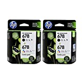 HP 678 Combo Pack - Black & Tricolor Ink Cartridge Pack of 2