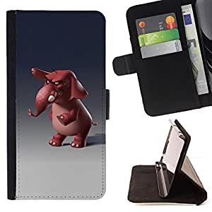 "For Samsung Galaxy E5 E500,S-type Divertido de la historieta 3D del personaje"" - Dibujo PU billetera de cuero Funda Case Caso de la piel de la bolsa protectora"