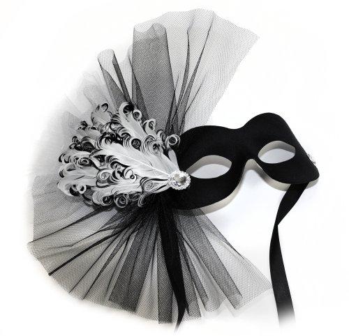Success Creations Lavish Soiree Black-White Women's Masquerade -