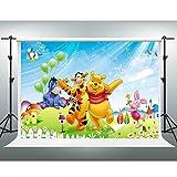 Disney Backdrops GESEN 10x7ft Cartoon Anime Winnie the Pooh Photography Background for Children Newborn Baby Shower Photo Studio Shooting Props LXGE144