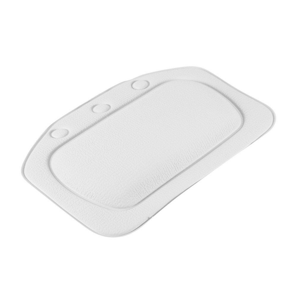 Bianco XZANTE Bagno Vasca Cuscino Cuscino Impermeabile in PVC da Bagno Cuscino con Sucker Testa e del Collo Cuscino