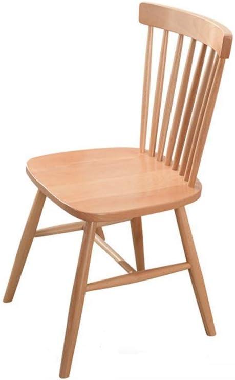 Silla de comedor de madera maciza, silla de escritorio minimalista ...