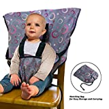 LINPAS Portable Travel Baby High Chair and Feeding Booster Safety Seat Harness for Infants and Toddlers Washable Cloth