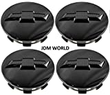 4pcs. Chevy Suburban Tahoe Center Caps 23480948 Wheel Center Cap Gloss Black with Bowtie Logo for GM Truck SUV New