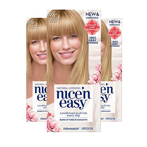 Clairol Nice'N Easy Creme 9A Light Ash Blonde (Pack of 3) (Nice And Easy Natural Light Ash Blonde)