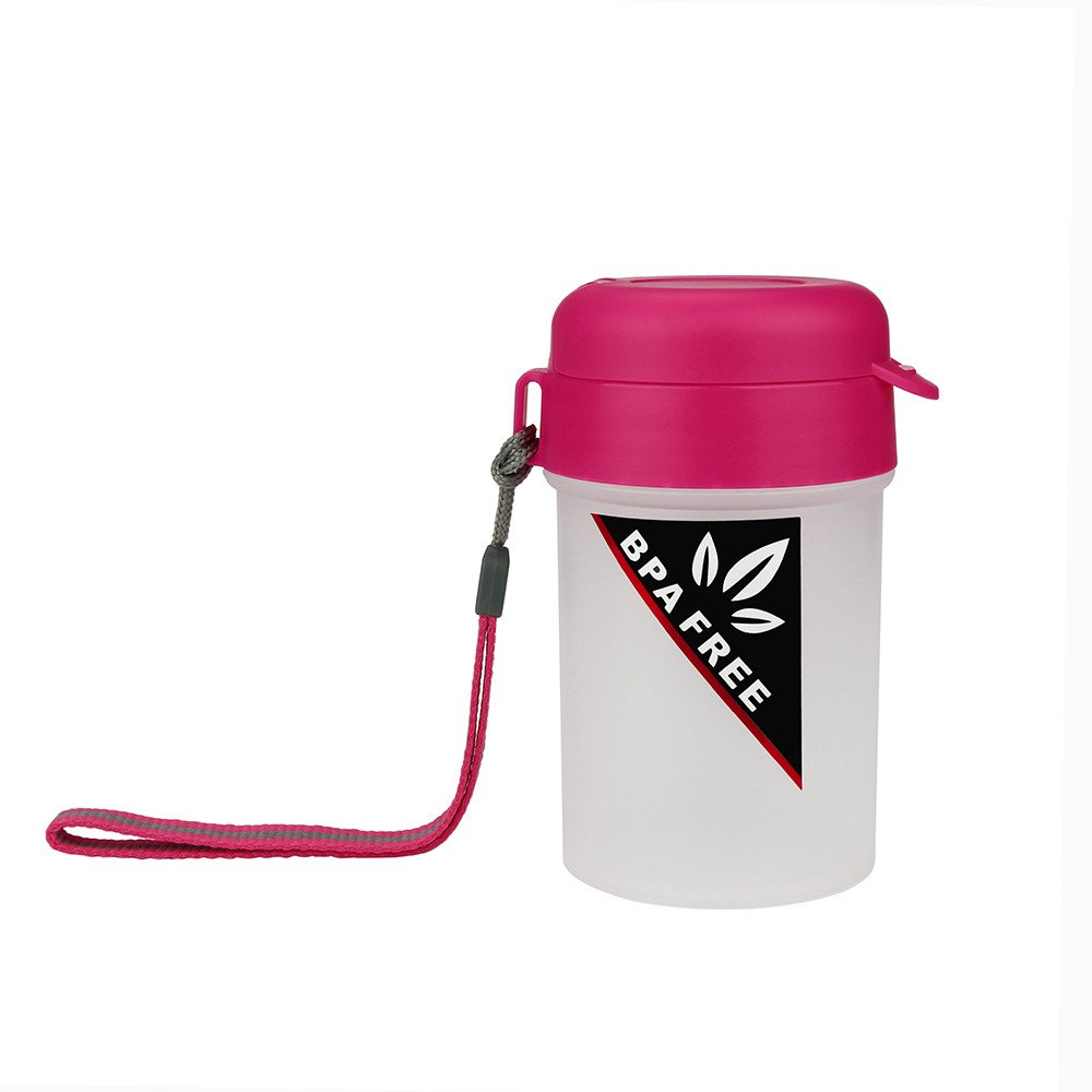 Huangou ❤ Travel Bottles ❤ Portable Sports Water Bottle Plastic Water Cup Creative Kettle Drink Travel Cup (Hot Pink, 250ml)