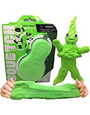 Squetch – Squish It! Stretch it! Squetch It! Bright Neon Green / Fun Easter Toy / New and Original Play Material / Super Light and Fluffy Like Cotton / Super Stretchable and Mouldable / Never Dries Out / Fidget and Creative Toy for Kids