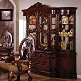 Tuscany Colonial Style Antique Cherry Finish Formal Dining China Cabinet Hutch Review