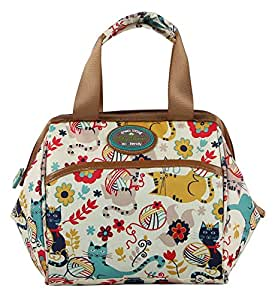 Lily Bloom Insulated Double Handle Zipper Lunch Cooler/Tote (Furry Friends)