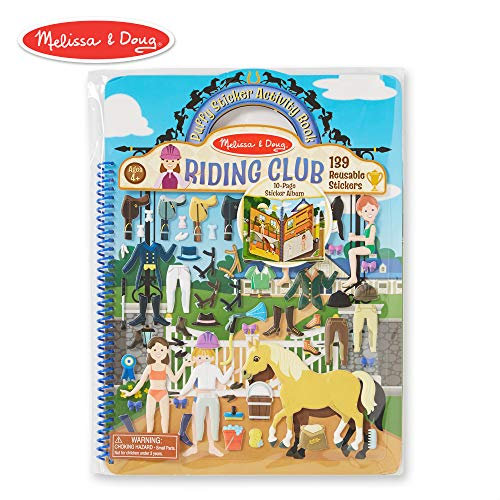 Melissa & Doug Puffy Sticker Play Set, Riding Club (Reusable Activity Book, 139 Stickers, Great for -