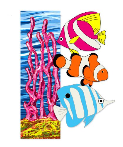 Tropical Coral Clownfish Long Nose Fish Garden (Mini Appliqued Garden Flag)