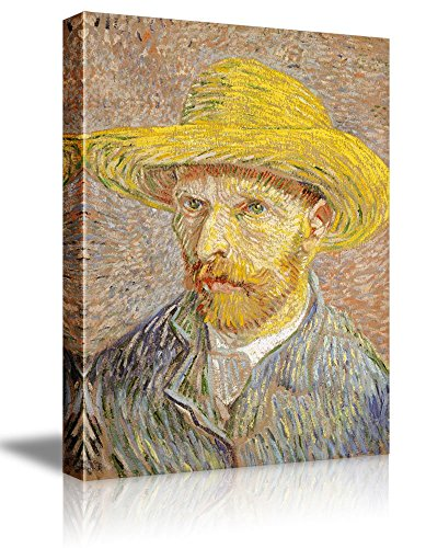 Self Portrait with a Straw Hat by Vincent Van Gogh Oil Painting Reproduction
