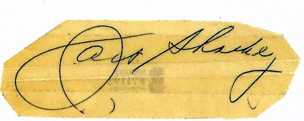 Jack Sharkey Signed Autographed 1x3.5 Vintage Cut Signature Beckett BAS