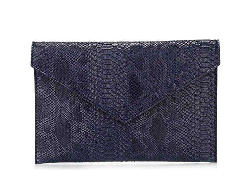 Grand Les Enveloppes Chaîne à Femmes Sac Banquet blue Sac D'épaule Dames Sac De Main Capacité w84qgw