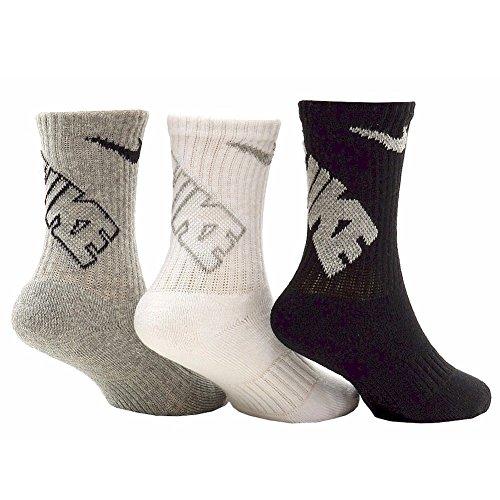 Nike Little Boy's 3-PK Vintage Heather Asst Crew Socks Sz: 5-6 Fits Shoes 9C-13C
