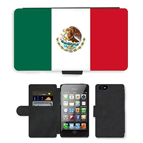 GoGoMobile PU Leather Flip Custodia Protettiva Case Cover per // V00001125 Mexique Drapeau // Apple iPhone 4 4S 4G