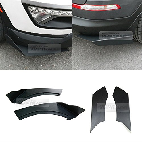 Canard Front Rear Cup wing Body Kit Matte Black for KIA Sportage R 2011 2012 (Rear Wing Kit)