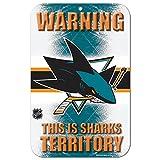 WinCraft NHL San Jose Sharks 68114091 Plastic Sign, 11 x 17, Black