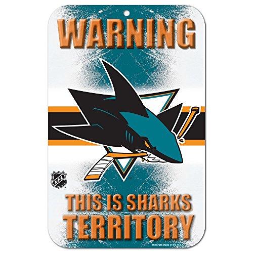 NHL San Jose Sharks 68114091 Plastic Sign, 11 x 17