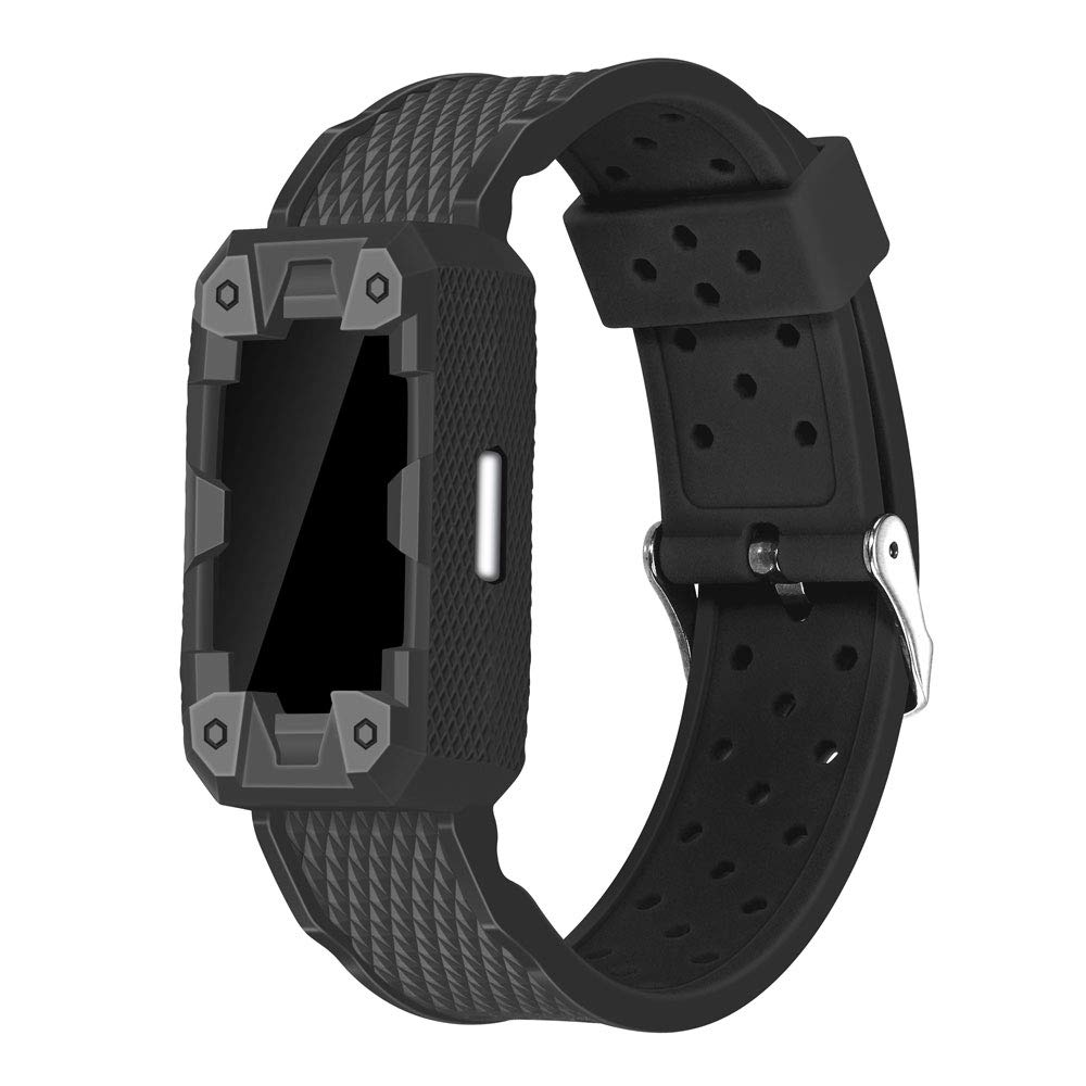 Famobest for Fitbit Bands Charge 2, Smartwatch Accessory Sport Band Compatible for Fitbit Charge 2 Bands Small Fitbit Charge 2 Bands Large(Black) by Famobest