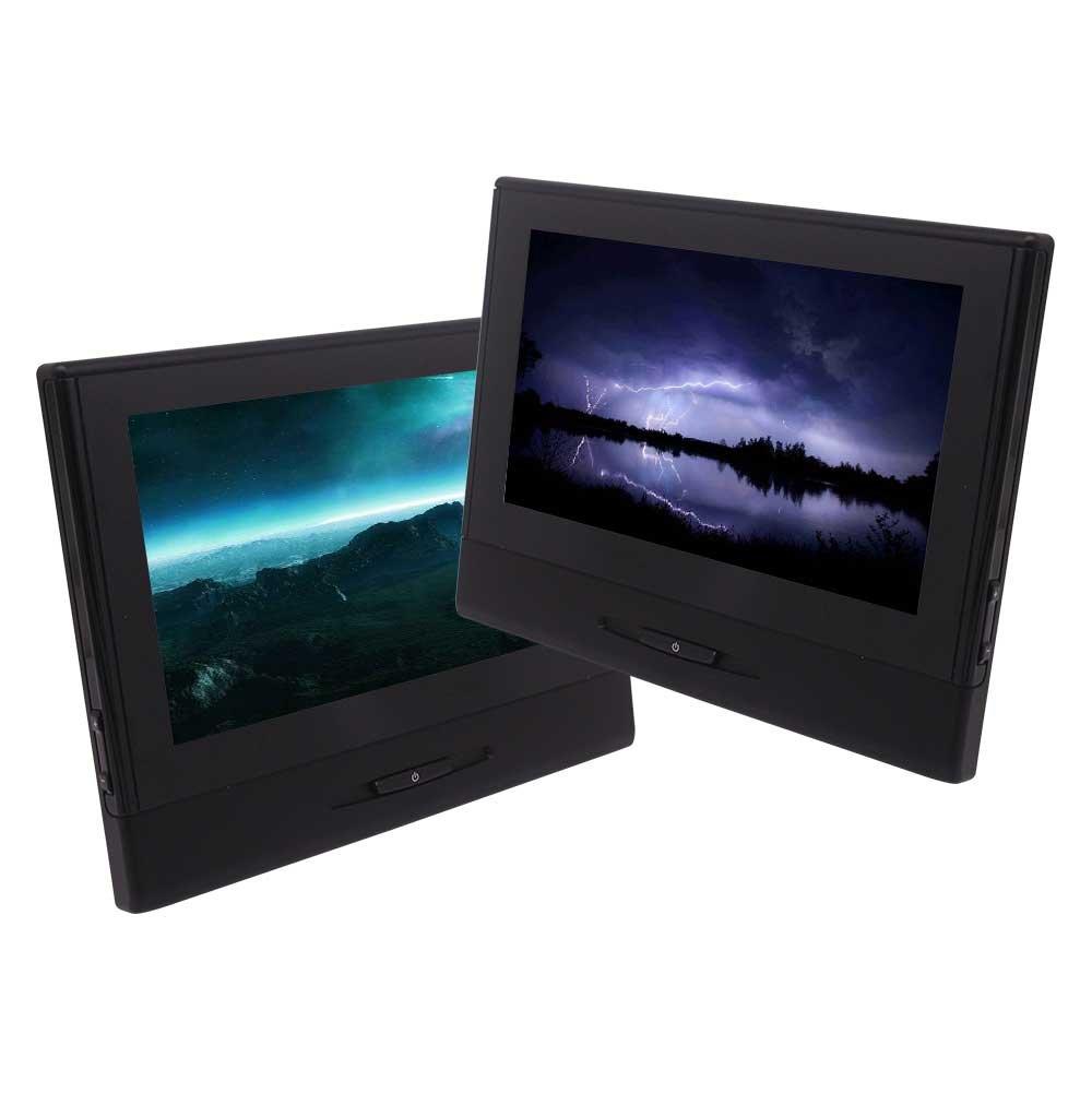 EincarダブルヘッドレストDVDプレーヤーツインカー枕は、内蔵FMトランスミッタ&IR 8インチデジタルスクリーンのサポートマルチメディアHDMI USBのSDカードを監視します B078864FMD