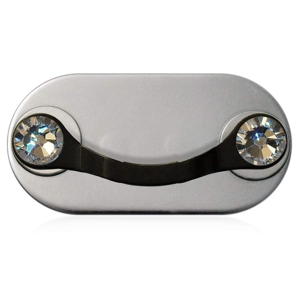 MAG-B porta occhiali magnetico (acciaio inossidabile nero con cristalli originali di Swarovski) Nikola Markovic und Stefan Wasserthal GbR